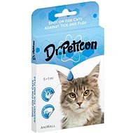 DR.Peticon Pipeta proti klíšťatům a blechám pro kočky 5 × 1 ml - Antiparazitní pipeta