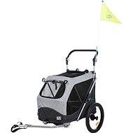 Trixie Bicycle Cart Grey 58 × 93 × 74/114cm - Bike Trolley