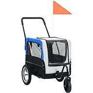 Shumee Trolley for Dog for Bike and for Running 2-in-1 Grey-blue - Bike Trolley