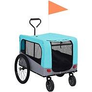 Shumee Vozík pro psa za kolo a na běhání 2v1 modro-šedý