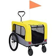 Shumee Vozík pro psa za kolo a na běhání 2v1 žluto-šedý - Vozík za kolo