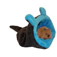 Marysa 2v1 mini Myšák pro hlodavce a fretky tmavě šedý/modrý - Tulipytlík