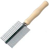 DOG FANTASY Comb DF Double-sided Dog Brush, Wood 17cm