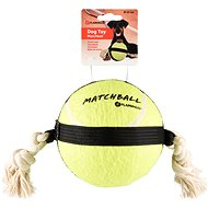 Flamingo Akční míč tenis 15 cm - Hračka pro psy