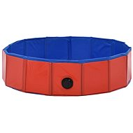 Shumee Bazén skládací červený PVC 80 × 20 cm