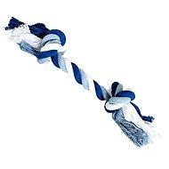 Trixie Hiphop Uzel bavlněný 2 knoty modro-bílý
