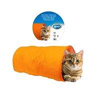 DUVO+ Kočičí tunel oranžový 50 × 25 × 25 cm