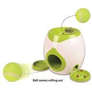 Flamingo Interaktivní hračka na pamlsky s tenisovým míčkem 29 × 19 × 18 cm
