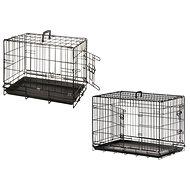 Karlie Drátěná klec černá dva vchody 63 × 43 × 49 cm - Klec pro psa