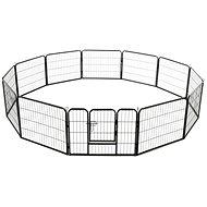 Shumee Ohrádka pro psy 12 panelů ocelová 80 × 60 cm černá - Klec pro psa