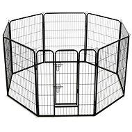 Shumee Ohrádka pro psy 8 panelů ocelová 80 × 100 cm černá - Klec pro psa