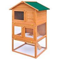 Shumee Zahradní králíkárna 3 patra dřevěná 80 × 71 × 160 cm - Králíkárna