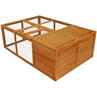 Shumee Klec venkovní skládací dřevěná 150 × 100 × 50 cm - Klec pro hlodavce