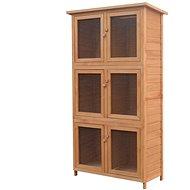 Shumee Králíkárna s 6 kotci dřevěná 102 × 48 × 180 cm - Králíkárna