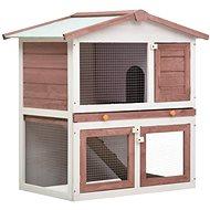 Shumee Garden Rabbit Hutch 3 doors Wooden Brown 94 × 60 × 98cm - Rabbit Hutch