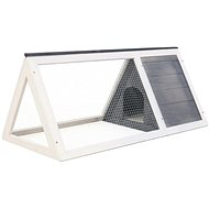 Shumee Cage for Small Animals Wood Grey 98 × 50 × 41cm - Cage for Rodents