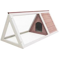 Shumee Cage for Small Animals Wood Brown 98 × 50 × 41cm - Cage for Rodents