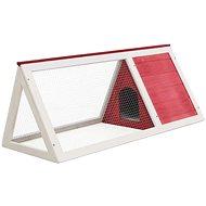 Shumee Klec pro malá zvířata dřevo červená 98 × 50 × 41 cm - Klec pro hlodavce