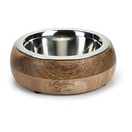 Pet Amour Mandira Wooden Dog Bowl 400ml - Dog Bowl