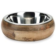 Pet Amour Mandira, Wooden Dog Bowl 400ml
