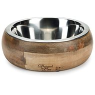 Pet Amour Mandira Wooden 1500ml - Dog Bowl