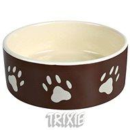 Miska pro psy Trixie Keramická miska s tlapkami hnědá