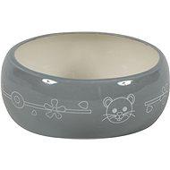 Zolux Ceramic Bowl Grey 300ml - Bowl for Rodents