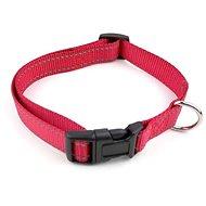 Cobbys Pet Nastavitelný textilní obojek reflexní červený - Obojek pro psy