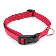 Cobbys Pet Nastavitelný textilní obojek reflexní červený 35-40cm × 2cm - Obojek pro psy