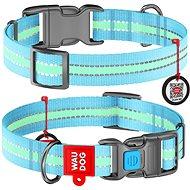 Waudog Obojek nylonový Glow modrý QR 35-58 cm/2,5 cm  - Obojek pro psy