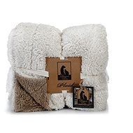 Pet Amour DBL Blanket Beige/White 150 × 125cm