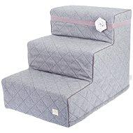 Easy Upp Elegance vysoké schůdky šedé 60 × 45 × 40 cm - Schůdky pro psy