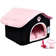 Petproducts House Pink-black 40 × 40 × 34cm - Bed