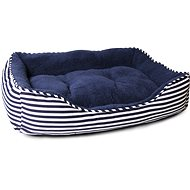 Petproducts Striped Blue White Dog Bed 75 × 54cm - Bed