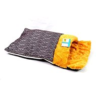 Petproducts Spací pytel oranžovo šedý 67 × 38 cm - Tulipytlík