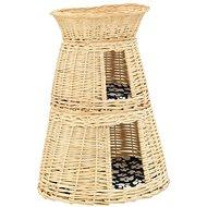 Pelíšek Shumee Pelíšek pro kočky 3dílný s poduškami vrba přírodní 47 × 34 × 60 cm