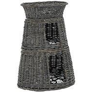 Shumee Pelíšek pro kočky 3dílný s poduškami vrba šedý 47 × 34 × 60 cm - Pelíšek