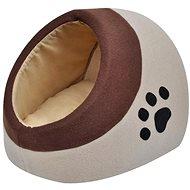 Pelíšek Shumee Teplý kočičí pelíšek flísový hnědý XL