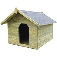 Zahradní psí bouda s otevírací střechou impregnovaná borovice 105,5 × 123,5 × 85 cm -  Bouda pro psa