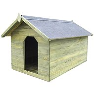 Zahradní psí bouda s otevírací střechou impregnovaná borovice 104,5 × 153,5 × 94 cm -  Bouda pro psa