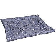 Flamingo Chladící pelíšek pro psy šedý vzor kapky 76 × 91 cm - Chladící podložka pro psy
