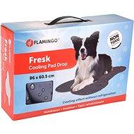 Flamingo Chladící podložka kost šedá vzor kapky - Chladící podložka pro psy