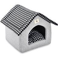 PetProducts Domek pro psy šedý 47 × 39 × 42 cm - Pelíšek