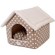 PetProducts Domeček pro psy puntíkatý 41 × 39 × 41 cm - Pelíšek