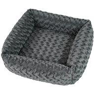 Olala Pets Cube Fuzzy, 53 × 53 cm, šedá - Pelíšek