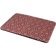 Matrace pro psy Olala Pets Matrace Happy de luxe 100 × 68 cm, růžová s ornamentem - Matrace pro psy