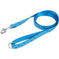 Olala Pets vodítko tlapky 25 mm × 150 cm - modrá - Vodítko pro psa