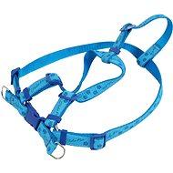 Olala Pets kšíry tlapky 15 mm × 32 - 46 cm - modrá - Postroj pro psa