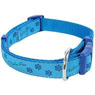Olala Pets obojek tlapky 25 mm x 40-66 cm, modrá - Obojek pro psy