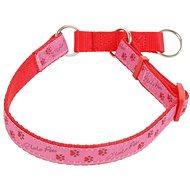 Olala Pets obojek polostahovací  tlapky 15 mm x 30-50 cm, růžová - Obojek pro psy